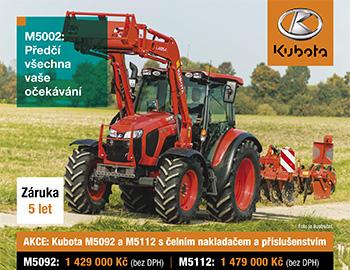 Akce Kubota M5092 a M5112
